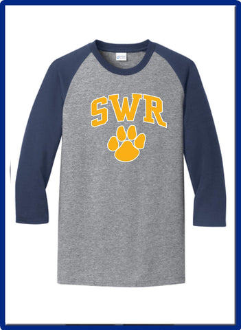 SWR Gear - PC55RS Port & Company® Core Blend 3/4-Sleeve Raglan Tee