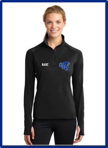 CHS - LST850 Sport-Tek® Ladies Sport-Wick® Stretch 1/2-Zip Pullover