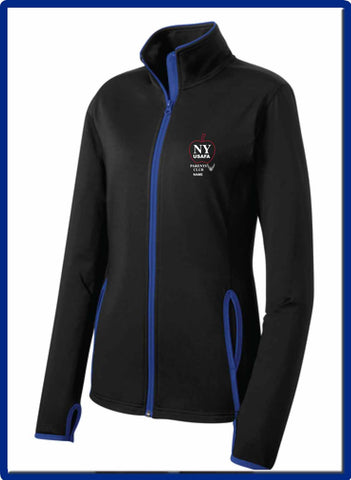 USAFA - LST853 EMB NAME Sport-Tek® LADIES Sport-Wick® Stretch Contrast Full-Zip Jacket