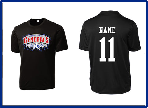 Generals - NAME & NUMBER ST350 Sport-Tek® PosiCharge® Competitor™ Tee
