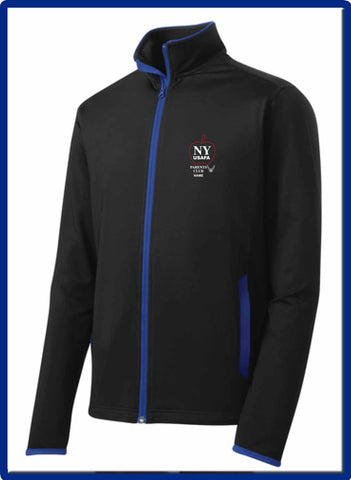 USAFA - ST853 EMB NAMESport-Tek® Sport-Wick® Stretch Contrast Full-Zip Jacket