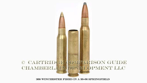 308 Win Fired from a 30-06 Springfield Rifle