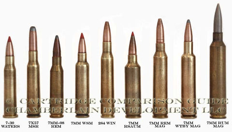 7-30 Waters, 7X57 Mauser, 7mm-08 Rem, 7mm WSM Rifle Cartridges