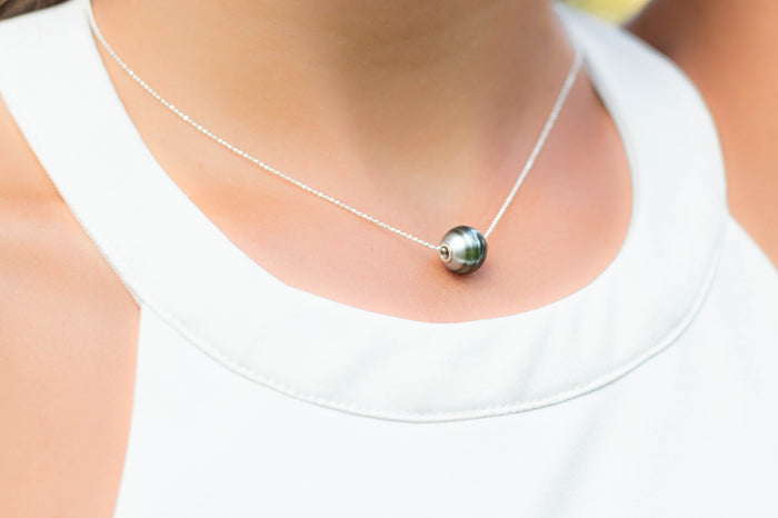 Floating Tahitian Pearl Pendent Necklace