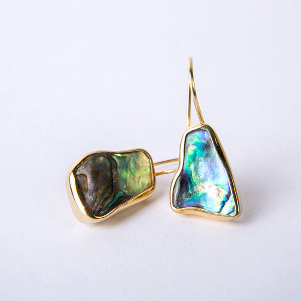 """Her Favorite Earrings"" P.O.H. One Drops in Abalone"