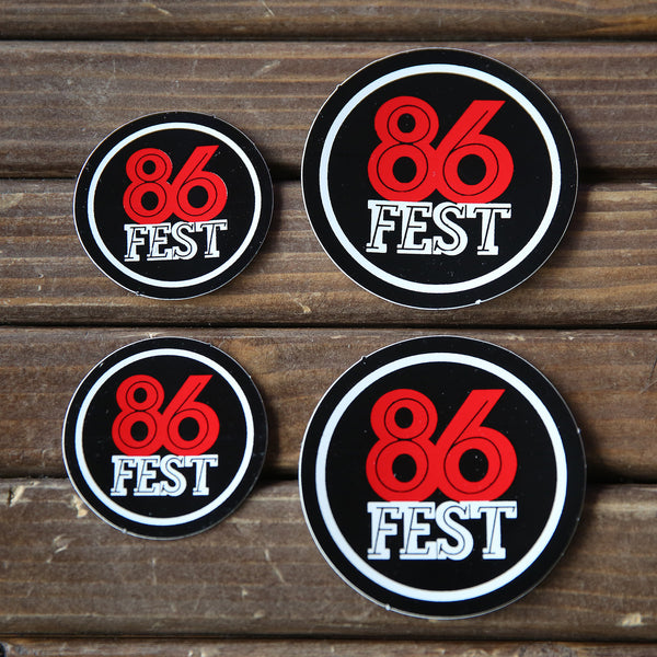 86FEST Sticker Pack » Round Stickers, Large & Small