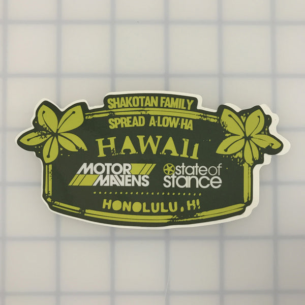 "MotorMavens Hawaii ""Spread aLOWha"" Sticker"