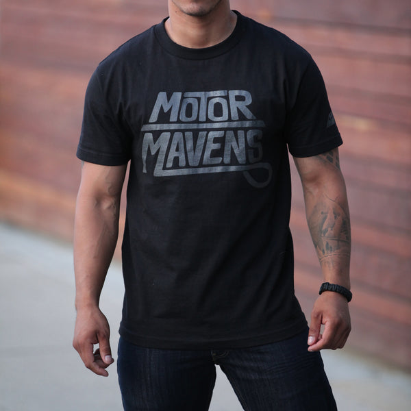 Sharpie Logo T-Shirt by MotorMavens (Black/Graphite Ink)