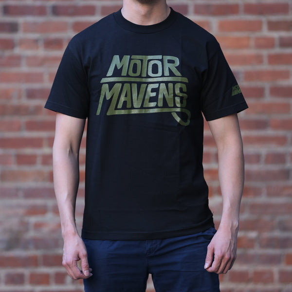 Sharpie Logo T-Shirt by MotorMavens (Black/Army Green ink)