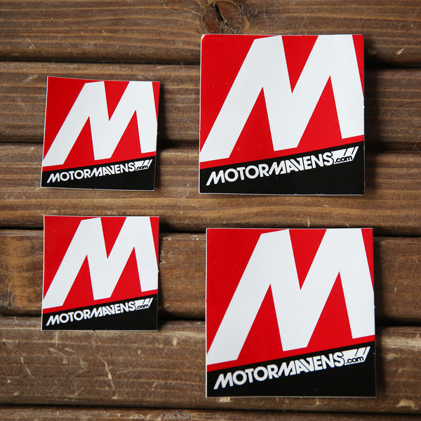 MotorMavens Sticker Pack » Square Stickers, Large & Small