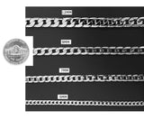 18K White Gold Diamond Cut Cuban Chain Necklace 9MM Miami Link With Warranty of a LifeTime USA Made!