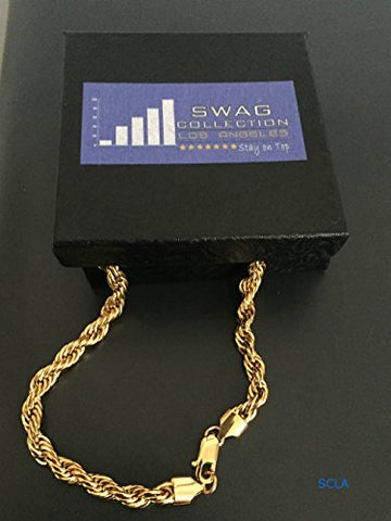 Gold Chain Necklace 24K Overlay 1.5mm Rope chainUSA Made, Great with or Without a Pendant.