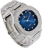 Bling-ed Out 18k White Gold Mens Color on Blast Iced Out With Lab Diamonds