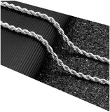 5MM Diamond Cut 18Kt White Gold Rope Chain