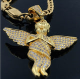 18K GOLDFILLED ANGEL WITH LAB SIMUILATED DIAMOND