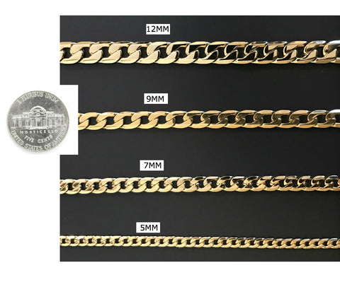 dotted Cuban Link Bracelet, 9mm Real 18K Solid Gold Filled Tarnish-Resistant USA Made!