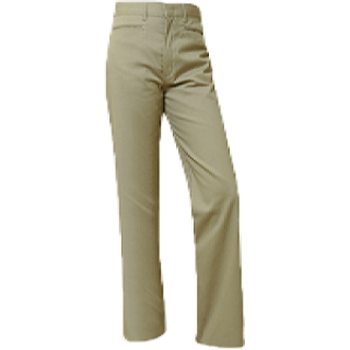 Lincoln Prep Girls Plain Front Pants