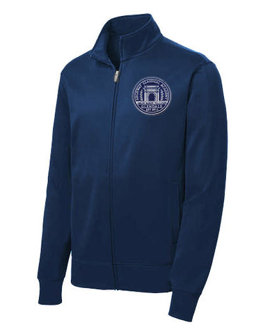 241 Archway Glendale Navy fleece lined athletic jacket