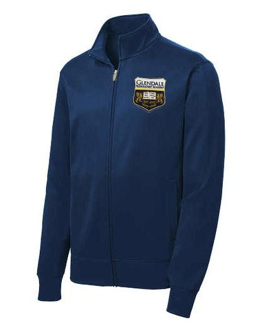 241 Glendale Prep Unisex Athletic Fleece Jacket NAVY