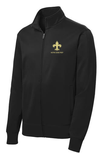 241 Notre Dame Full Zip Fleece Athletic Jacket Black