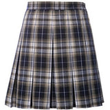 Lincoln Prep Girls Box Pleat Plaid Skirt