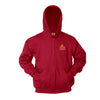 Seton Catholic Full-Zip Hooded Fleece Sweatshirt - w/ school logo