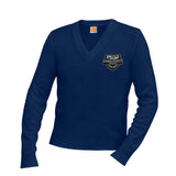 6500 Candeo Peoria NAVY Unisex v-neck sweater