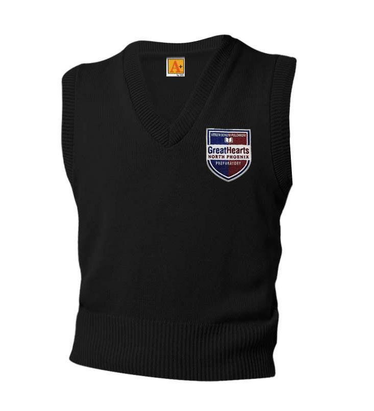 6600 North Phoenix Prep Black Sweater Vest