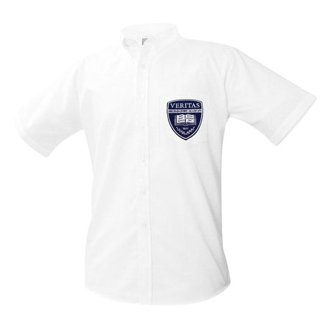 8061 Veritas Prep Boys Short Sleeve Oxford patch on pocket