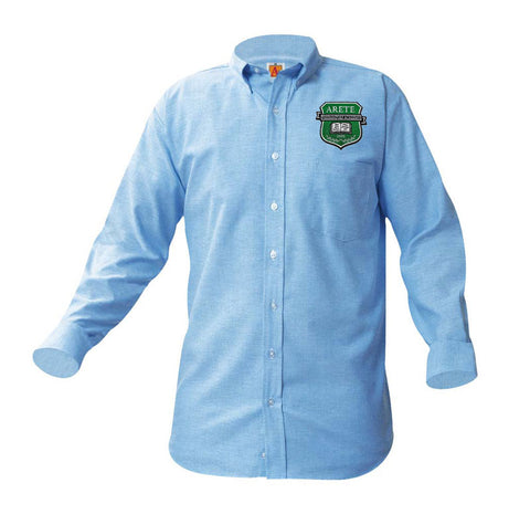 8066 Arete Prep Academy Boys Long Sleeve Oxford patch on pocket