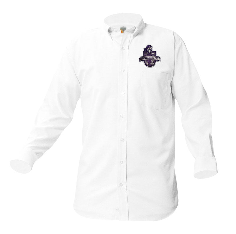 8066 Arizona College Prep Boys Long Sleeve Oxford patch on pocket