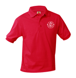 8320 Saint Theresa PS-8 Unisex Red Polo