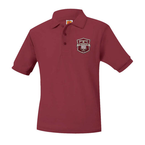 8761 Trivium Prep Boys Short Sleeve Polo 6th-8th Grade