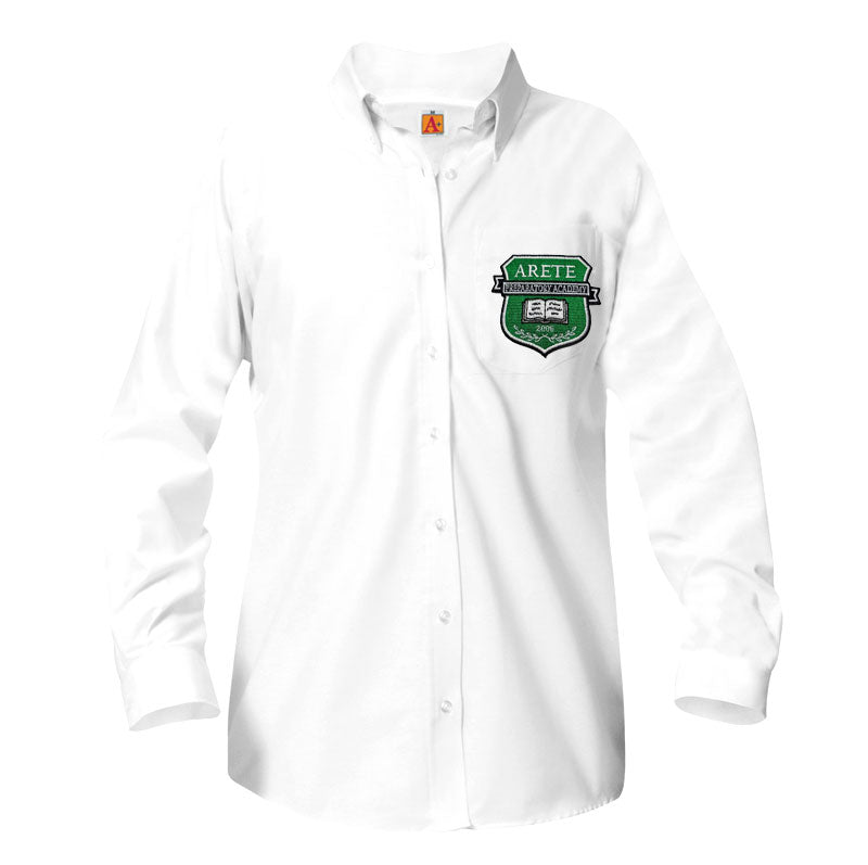 9466 Veritas Prep Girls Long Sleeve Oxford