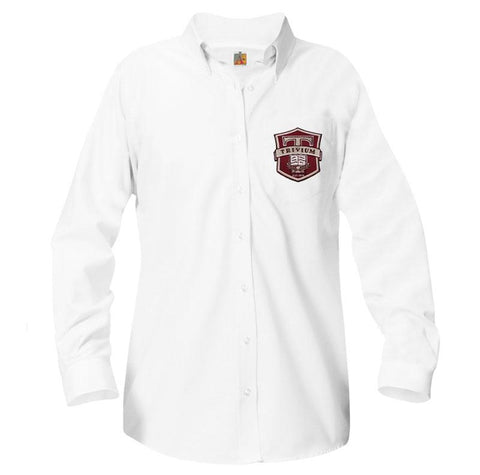 9466 Trivium Prep Girls Long Sleeve Oxford