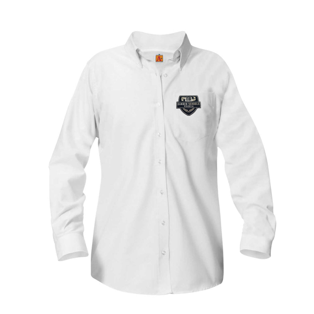 9466 Candeo Peoria Girls Long Sleeve Oxford 6th-8th grade