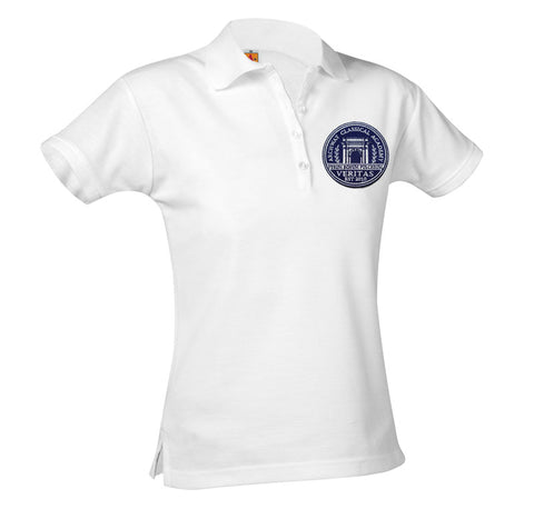 9715 Archway Veritas Girls Short Sleeve Polo