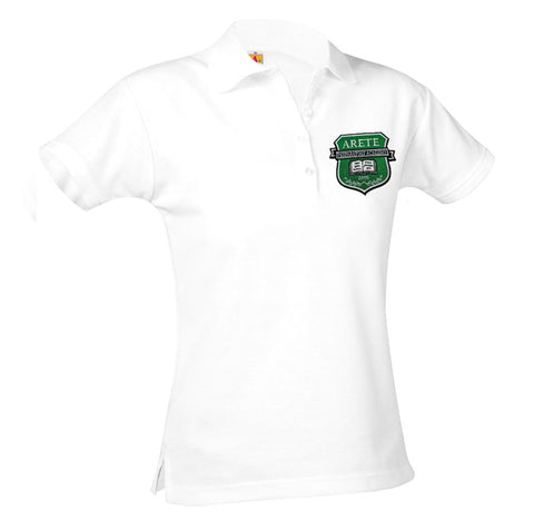 9715 Arete Prep Academy Girls Short Sleeve Polo