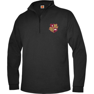Teleos Prep Black ¼ zip Sweatshirt
