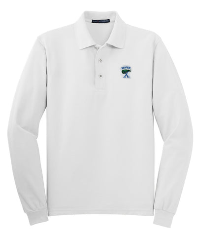Xavier Prep Long Sleeve Jersey Knit Polo