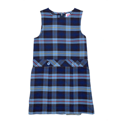 1194BPR PLD41 Candeo Peoria Plaid Jumper With Kick Pleats - Grades K-5*