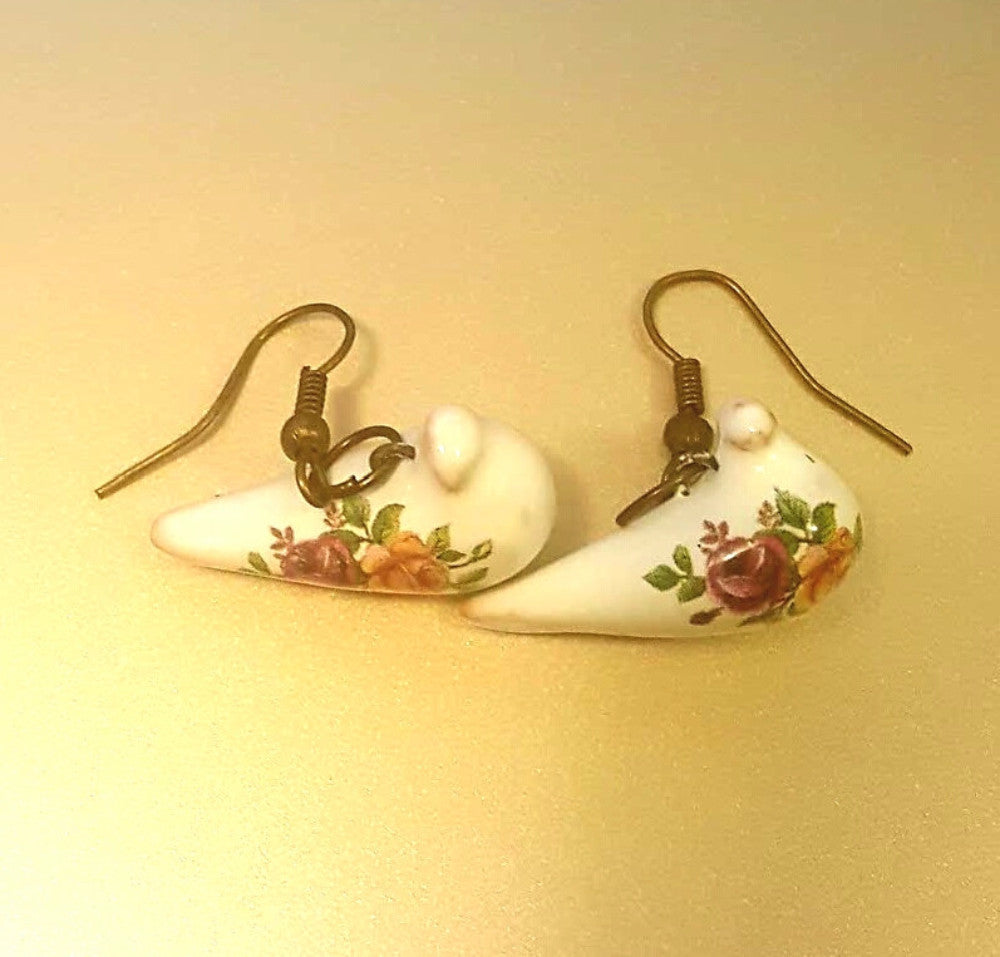 handmade ceramic bird earrings