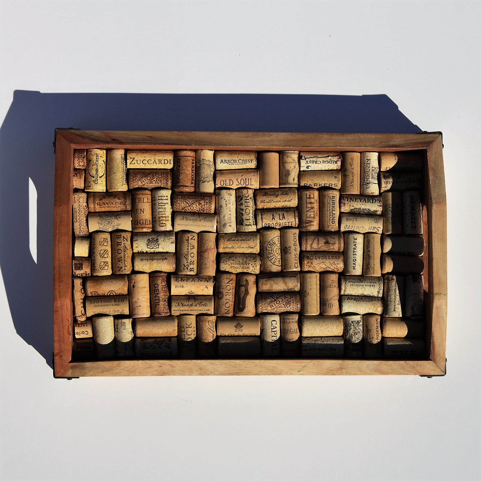 Artszy wine cork tray