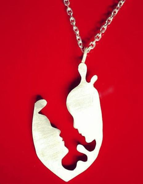 lovers Silhouette Necklace