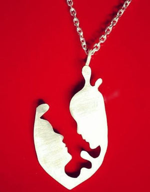 artszy silver lovers necklace