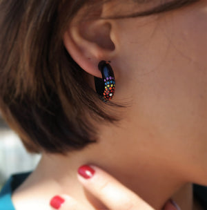 Hand painted Wooden Earrings