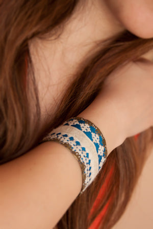 Beautiful Handmade Bracelet with Middle Eastern Embroidery / needlework