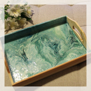 Painted Resin Tray
