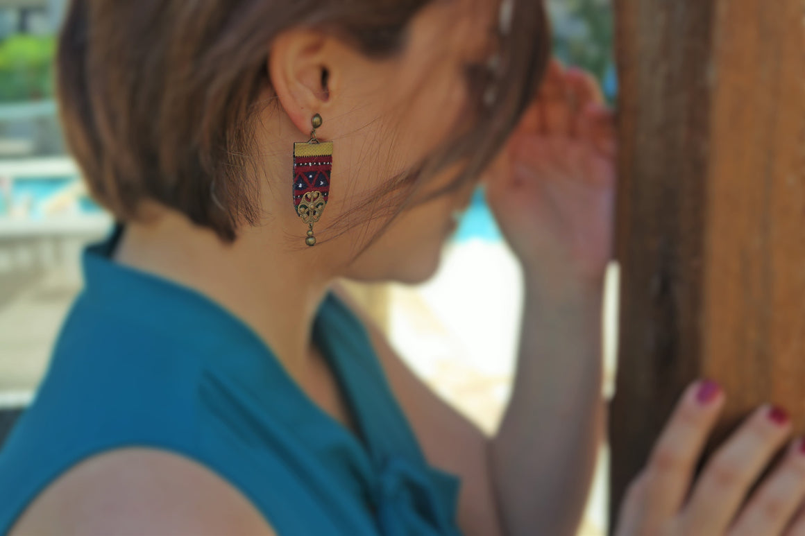 needlework earrings/Middle Eastern Embroidery