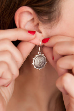 Silver Persian Coin Earring